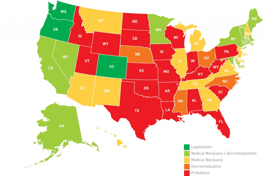 No Time For Employers To Be Dazed And Confused About Marijuana - Map of marijuana laws us 2016